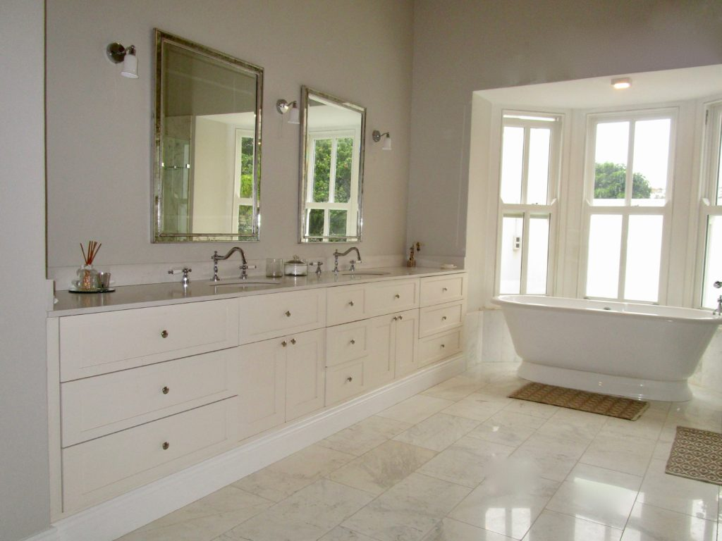Vanity bathroom cupboards by Woodhouse Kitchens