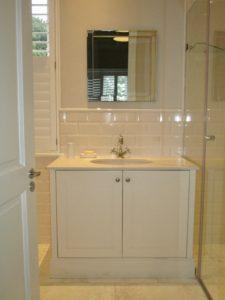 Bathroom vanity cupboard by Woodhouse